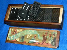 lot DOMINOS de 22 x 42 x 7 mm HERITAGE dominoes JEUX game JEU