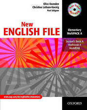 Oxford NEW ENGLISH FILE Elementary MultiPACK A (Files 1-4) @New@ 9780194518222