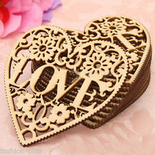 Unfinished Wooden Love Heart Shape for Weddings Plaques Art Craft Embellishment
