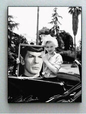 Framed Marilyn Monroe holding Star Trek Spock with faux signed autograph Lim Ed