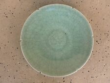 ANTIQUE 10.25 INCH CHINESE CELADON CHARGER PLATE