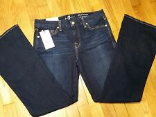 7 For Al Mankind A Pocket Flare Short Inseam Jeans Size 30 Mid Rise Dark NWT New