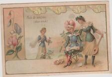 TRES JOLIE IMAGE ANCIENNE- JEUNE FEMME HABILLEE EN FLEURS- POIS DE SENTEUR