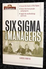 Briefcase Books: Six Sigma for Managers by Greg Brue 2002, Paperback Book