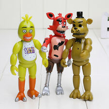 "3 x Five Nights at Freddy's FNAF Action Figures Set Bonnie Chica Foxy Bear 6"" 39"