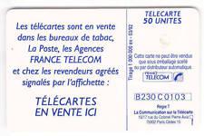 VARIETE TELECARTE .. 50U F239 TRAIT SUR E SOUS EMBALLAGE   UT/TBE C.9€