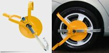 "FULL FACE WHEEL CLAMP HIGH SECURITY LOCK CAR CARAVAN TRAILER 13"" TO 15"" WHEELS"