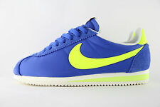 New Mens Nike Classic Cortez Nylon OG AW Blue Volt Trainers UK 10 BNB 844855 470