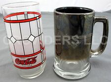 Frosted Collectors Coca Cola Glass & Harley Davidson Cafe Las Vegas Tinted Mug