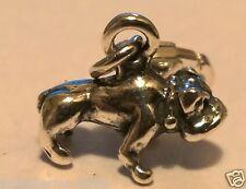 Clip per Bulldog Britannico Ciondolo 3d argento Sterling Charm Dogs 3d Fibbia SAB @