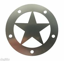 "Cigar Box Guitar Parts: Stainless Steel ""Lone Star"" Sound Hole Cover - 31-21-01"