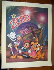 "Disney Celebrate The Future Hand In Hand 2000 Don ""Ducky"" Williams Lithograph"