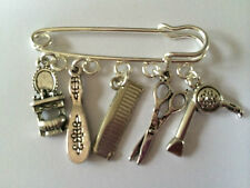 Silver Tone Kilt Pin Brooch - HAIRDRESSING INSPIRED BEAUTY CHARMS