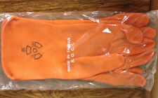 36 PAIR.  LATEX ANTI-C GLOVES. ORANGE. 12 INCH. SIZE 9. INDIVIDUALLY WRAPPED