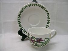 SALE ~ Portmeirion HEARTSEASE Traditional Footed Cup & Saucer Set Botanic Garden