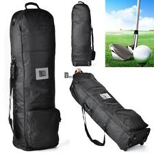 "New Golf Club Bag Travel Cover, Collapsible ,50.3 x 14.4"" Portable w/Wheel~ BSTY"