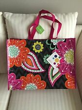 Vera Bradley Market Tote Zippy Zinnia NWT Eco Bag Recy Reuse FREE SHIP Valentine