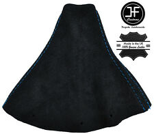 BLUE STITCH FITS AUDI TT COUPE 1996-2002 BLACK SUEDE GEAR GAITER COVER
