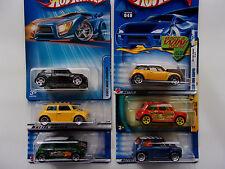 Hot Wheels Lot 6 Variations Morris Mini & Mini Cooper   - NEW