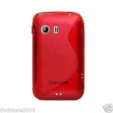 Pellicola + Custodia cover case WAVE ROSSA per Samsung Galaxy Y S5360 Gel Gomma