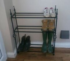 Wrought iron metal Shoe stand Boot welly Rack heavy duty ornate old style