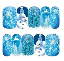 UK Nail Art Sticker Water Transfer Stickers Xmas Snowman Christmas (DS406)