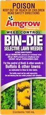 AMGROW BIN-DIE Lawn Weed Killer Control 100ML