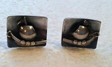 Vintage Sterling Silver Earrings Denmark E Dragsted Viking Ships