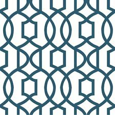 Wallpops Contemporary Peel and Stick Navy Blue White Links Designer NU Wallpaper