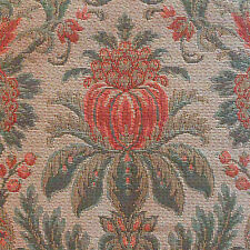 Gros Point Baroque Floral Tapestry Lee Jofa Teal Peach MSRP $244/yard