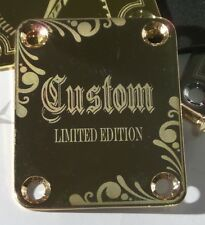 Gold C2 Guitar Neck Plate fits Fender tele/strat/squier