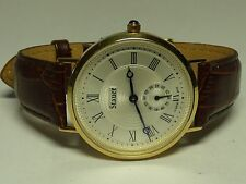 Stauer Gold Finished 14k Solid Gold Case 16313 Wristwatch
