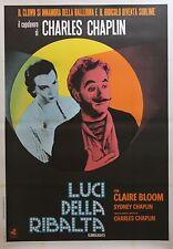 """""""LES FEUX DE LA RAMPE (LIMELIGHT)"""" Affiche italienne entoilée (Charlie CHAPLIN)"""
