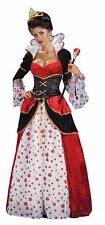 Queen of Hearts Womens Adult Costume Dress Valentines Standard Size