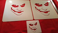 YOUTH ADULT T SHIRT HAT AIRBRUSH STENCILS THE JOKER SET OF 3 FAST FREE SHIP!