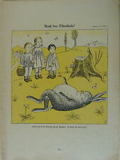 vintage SIMPLICISSIMUS cartoon 1924 AUCH DER OSTERHASE e schilling