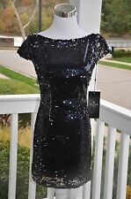 Alyce black sequin dress, size 0, new with tags, great holiday dress