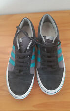 ADIDAS Trainers Size 9 Men's Shoes suede leather casual lace-up grey turquoise