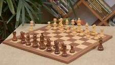 "Combo of Staunton Series Shesham Chess Pieces & Walnut Maple board- 3.8"" C0509"