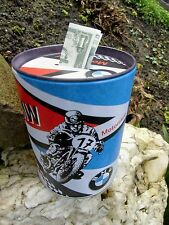German BMW Motorcycles - TIN PIGGY BANK / MONEY BOX - made in Germany