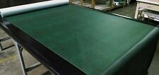 "5 YARDS ANTIQUE GREEN FAUX LEATHER AUTO UPHOLSTERY FABRIC VINYL 54""W PLEATHER"