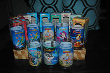 Disney Collectible Glass Disney Cup Lot of 8 1994 Dumbo Pocahontas Jungle Book +