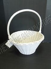 Pottery Barn Kids Sabrina Easter Egg Bunny wicker Basket Rattan SMALL White