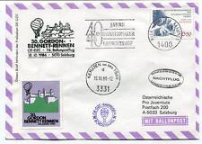 1986 Ballonpost n. 76 Pro Juventute Aerostato OE-DZC Kematen Gordon Bennett ONU