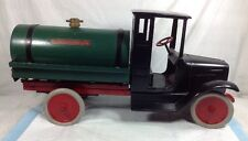 Antique 1920's Buddy L Tank Line Pressed Steel Truck Large Excellent