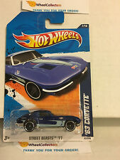 '63 Corvette #87 * Blue * 2011 Hot Wheels * N190