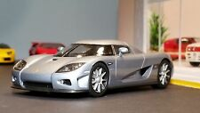 AutoArt SLOT Car 1:32 KOENIGSEGG CCX Silver Lighting Lamps NEW Scalextric