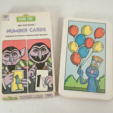 Vtg 1970s Sesame Street See and Know  Muppets Count Number Flash Cards