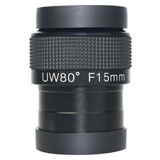 New 2'' Eyepiece Fully Multi-Coated F15mm Ultra Wide Angle 80° For Telescope