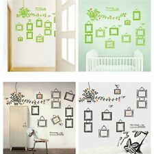 DIY Home Room Decor Family Photo Frame Black Tree Wall Sticker Wall Decal